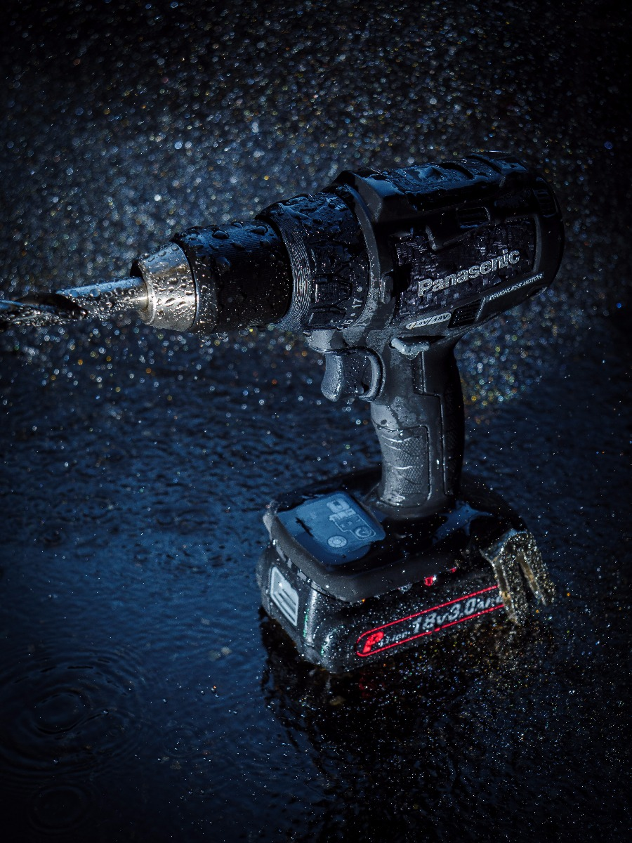 Panasonic Power Tools are Tough Tools for Tough Conditions and are renowned for their exceptional water resistance
